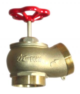 Вентиль пожарный латунный угловой ДУ 65 мм